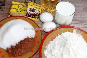 Ингредиенты для приготовления кексов на молоке