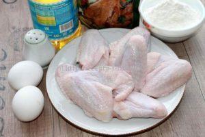 Ингредиенты для приготовления жаренных крыльев