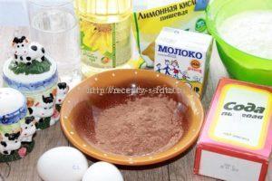 Продукты для приготовления блинов на молоке