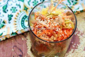 готовим Вкусный салат с кунжутом