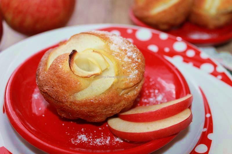 маффины с яблоком