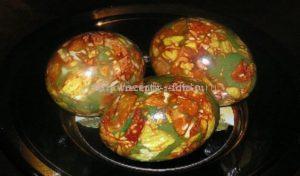 Окраска яиц под мрамор