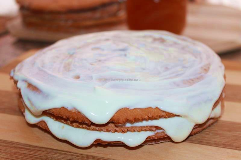 Медово сметанный торт
