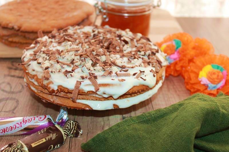 торт медово сметанный