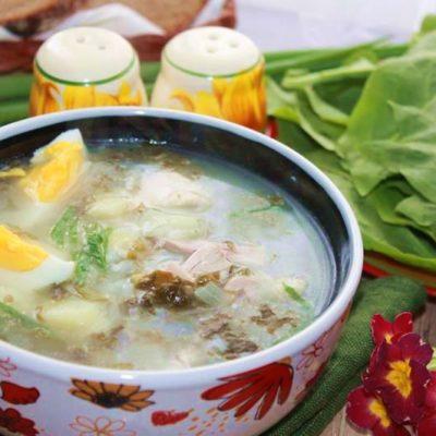 суп из щавеля готовим