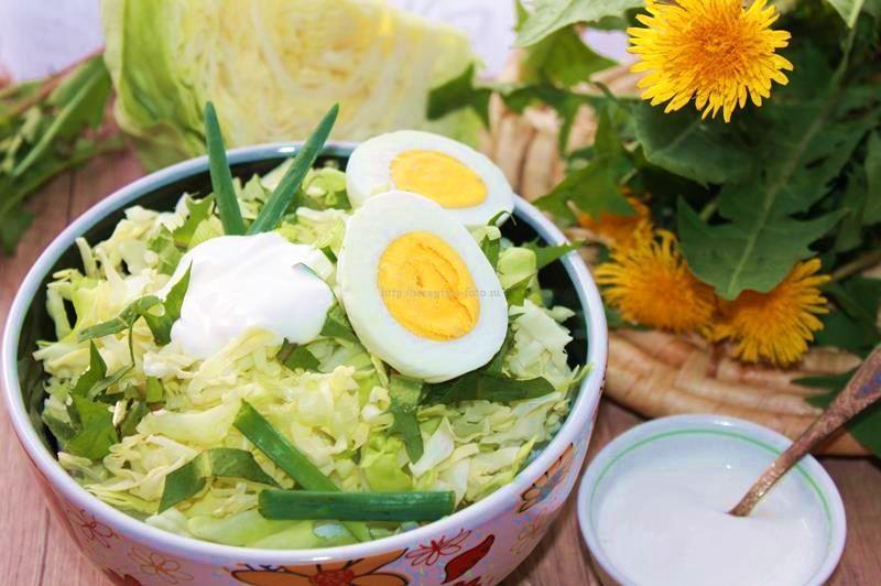 Салат Весна – красивый салат из одуванчиков