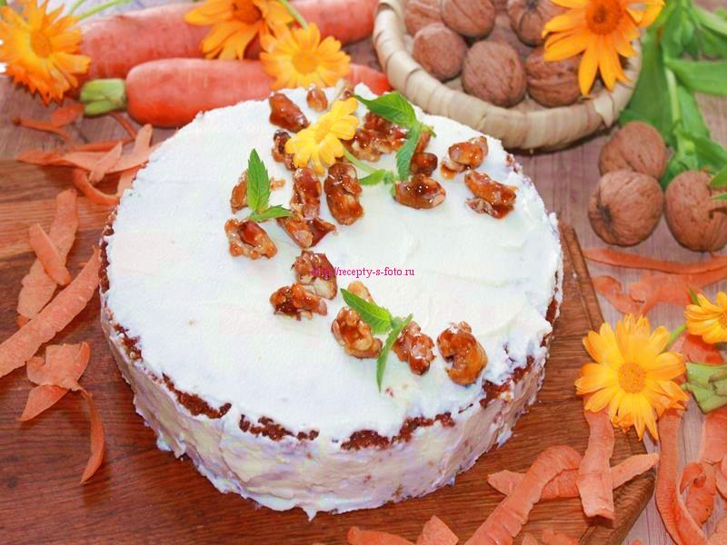 Морковный торт рецепт десерта