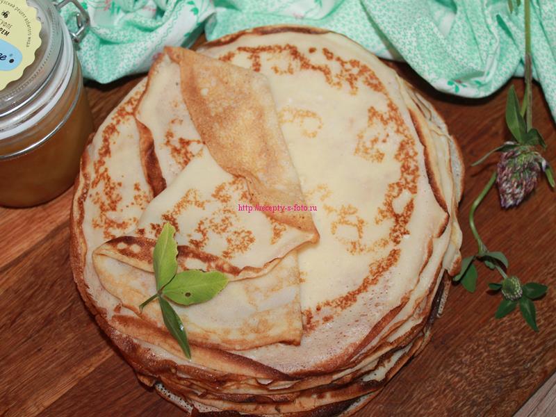 Сладкие блинчики с крахмалом и яйцами - рецепт пошаговый с фото