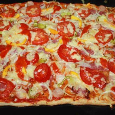готовая пицца из духовки