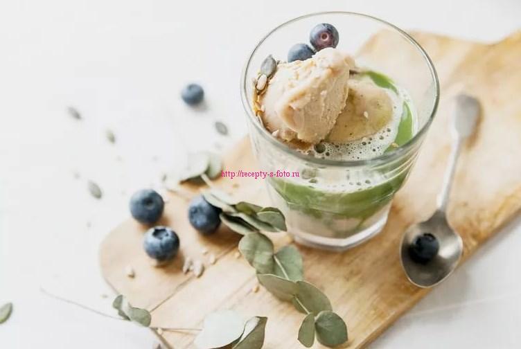 мороженное с ягодами