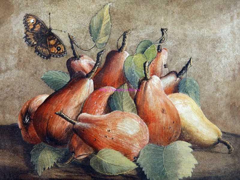 картина с грушами