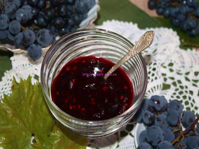 Кисель из винограда
