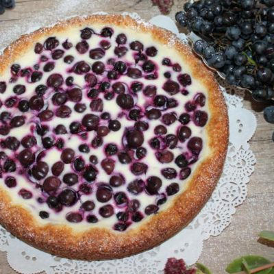 творожно ягодный пирог