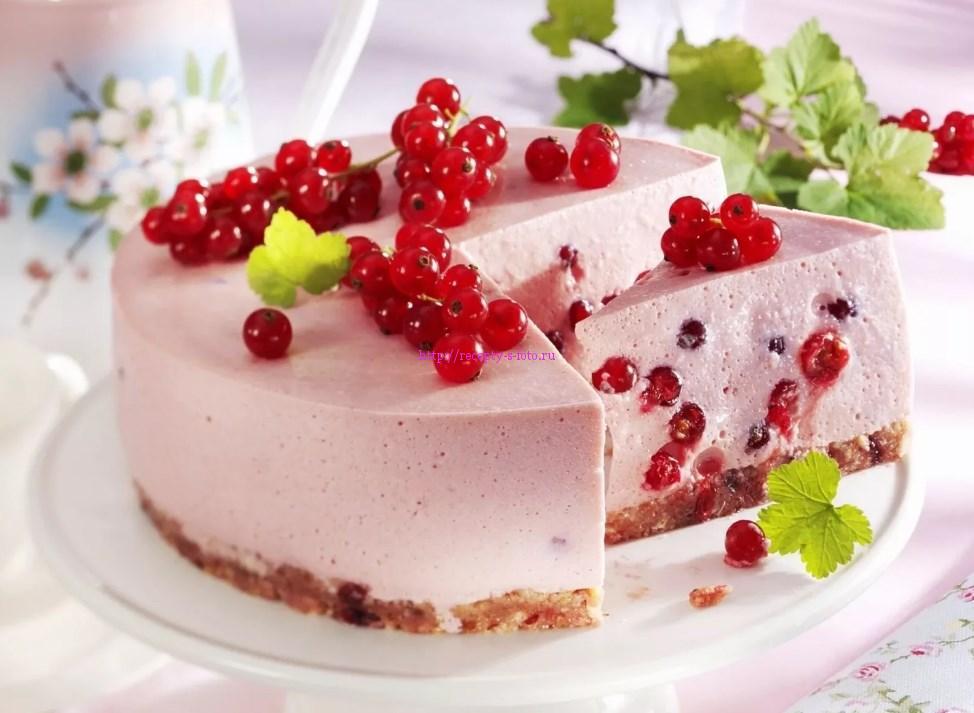 рецепт торта с красной смородиной