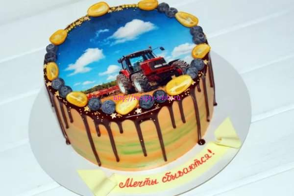 торт трактор