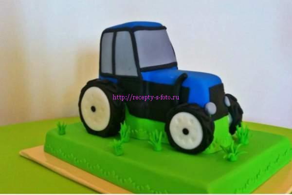 торт в виде трактора