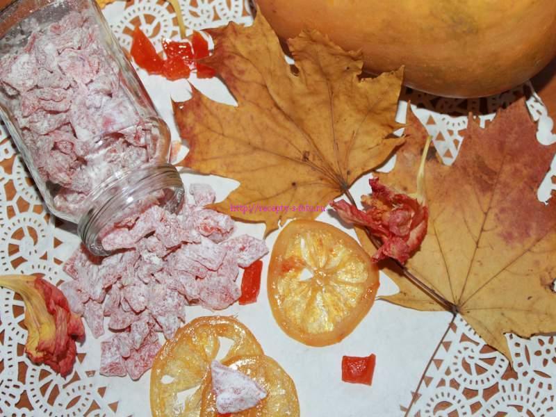 Цукаты из тыквы с лимоном