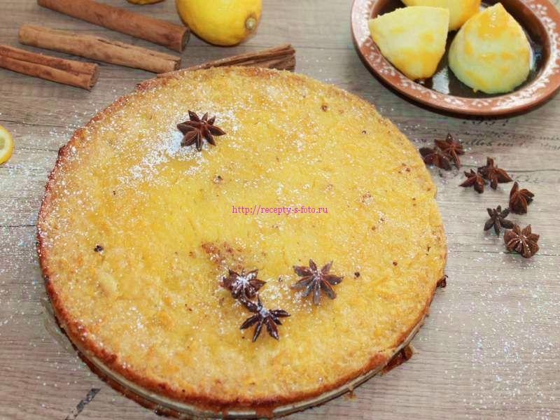 Пирог с цедрой лимона