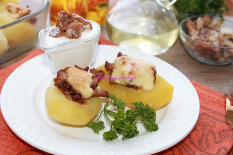 готовые картофельные лодочки