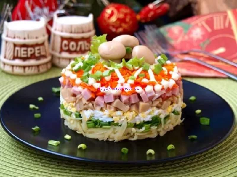 как применить грибы в салате