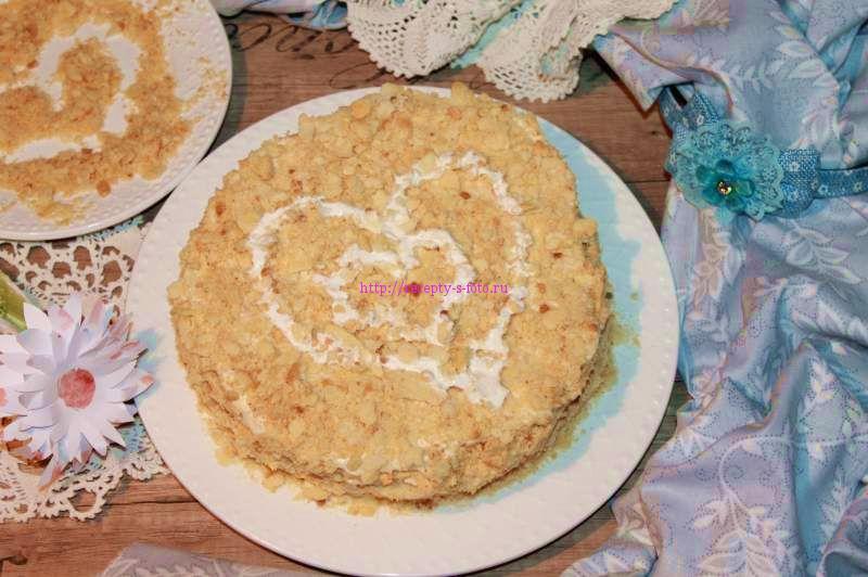 рецепт торта наполеон с пошаговыми фотографиями