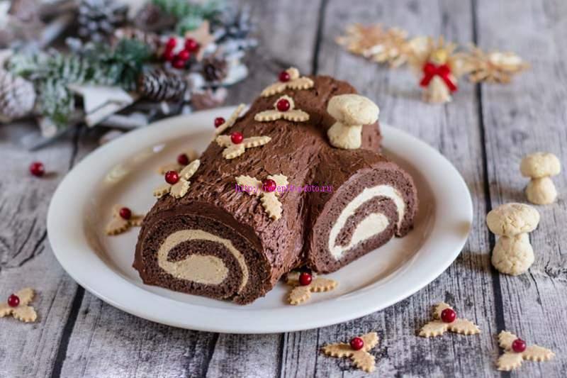 торт полено бисквит