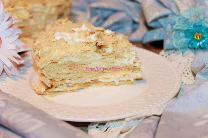 торт из слоеного теста