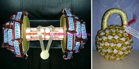 гири из конфет