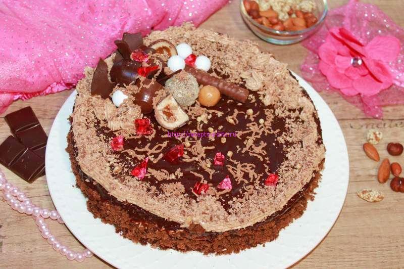 готовый пражский торт