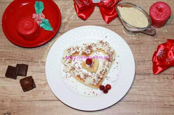пирожное на день влюбленных