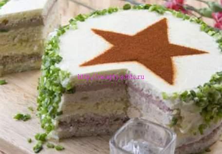 торт со звездой