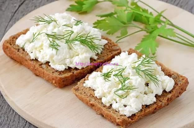 бутерброд с творогом