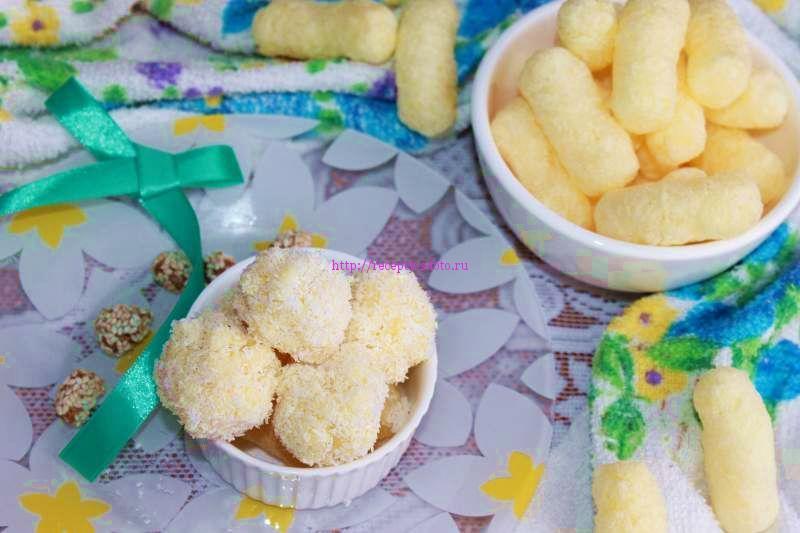 конфеты из кукурузных палочек