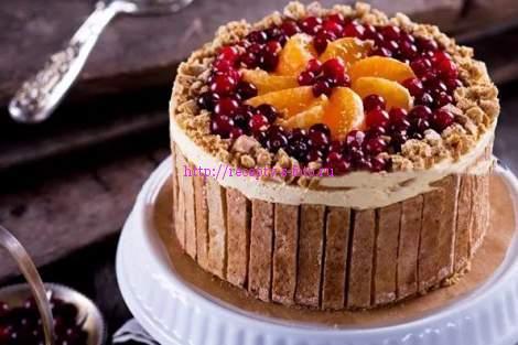 фотография пирога с ягодами
