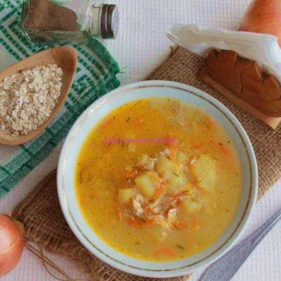 Суп с курицей и овсяными хлопьями