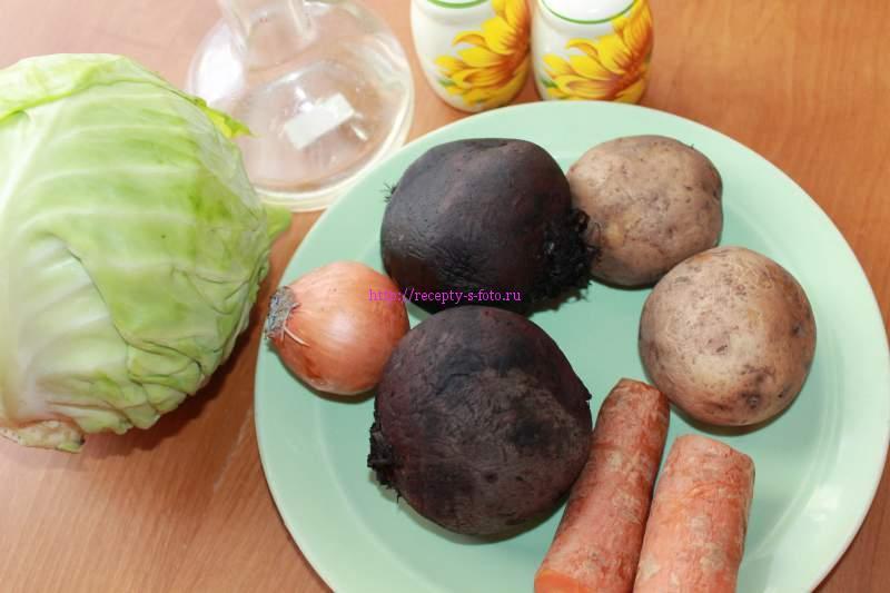 овощи в борщ