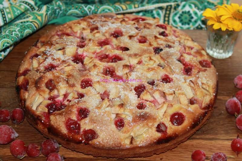 Пирог с крыжовником рецепт