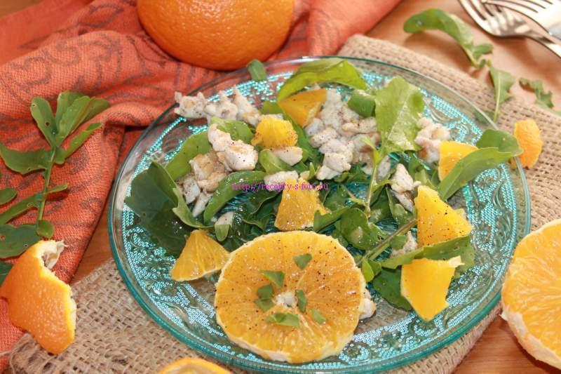 Салат с рукколой и апельсином