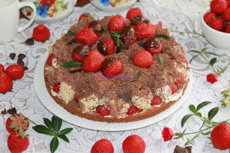 клубничный тортик
