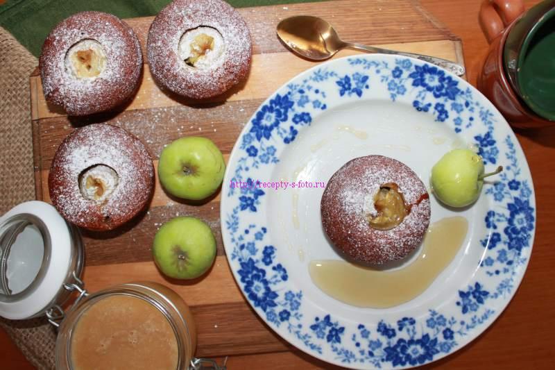 кексы с медом и яблоками