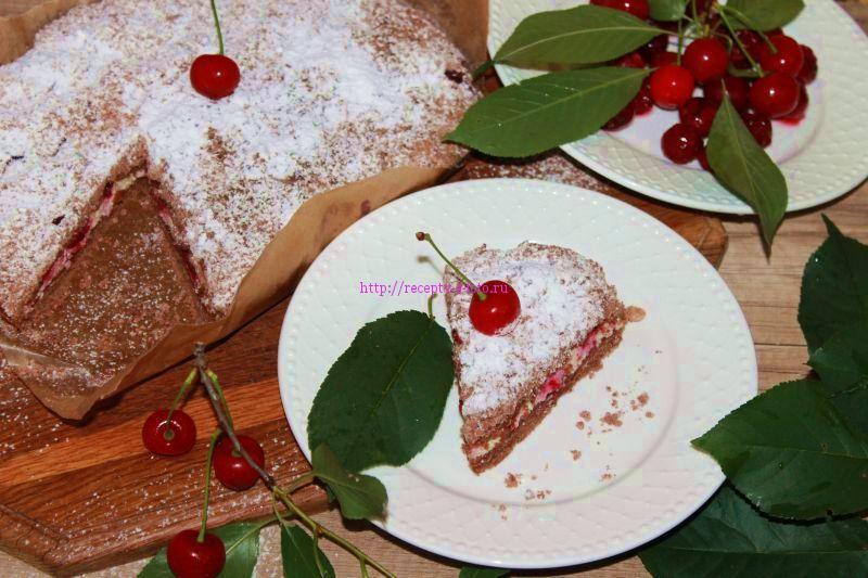 Шоколадный пирог с вишней рецепт