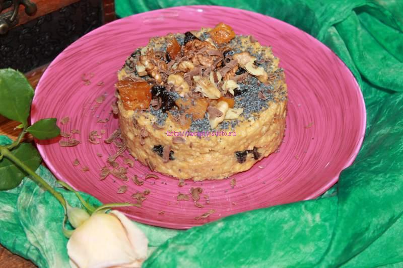 десерт с сухофруктами