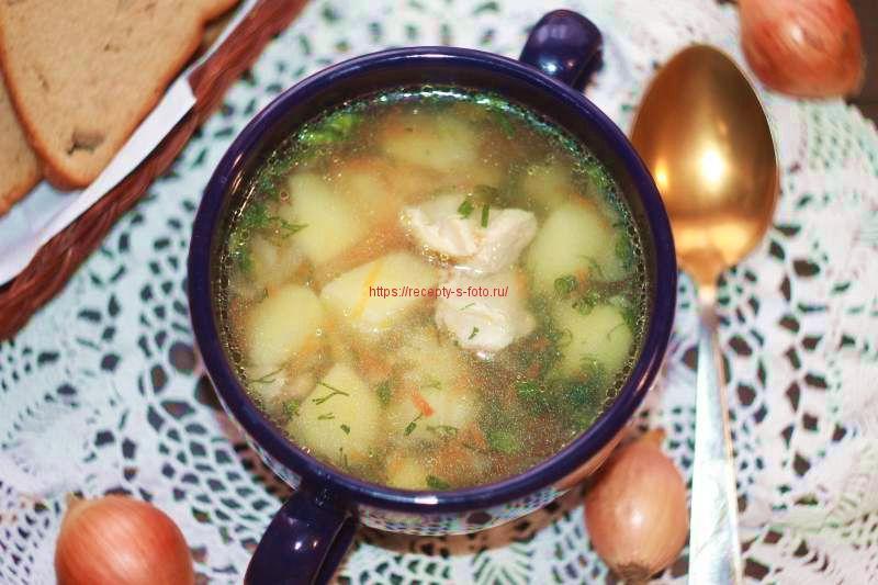 готовим куриный суп в мультиварке