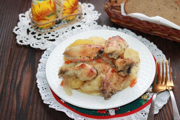 курица с картошкой