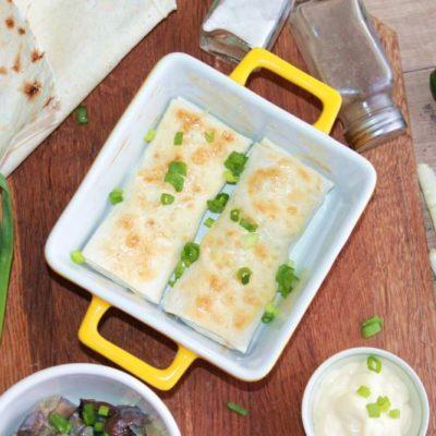 горячая закуска лаваш с грибами и сыром