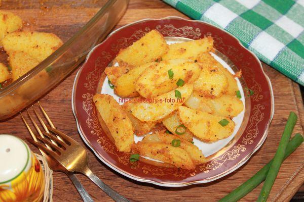 картофель запеченый в сухарях
