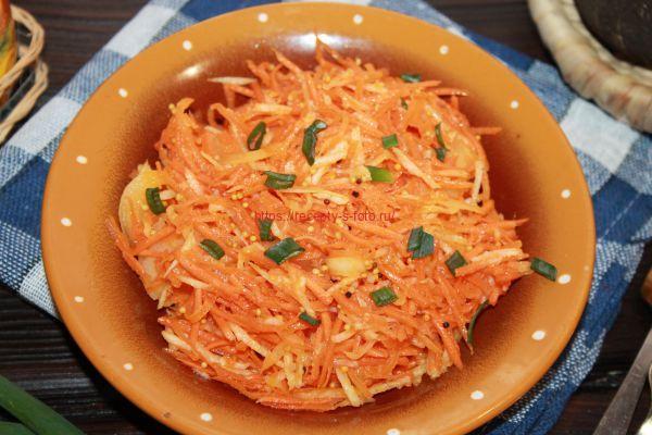 салат из овощей с добавлением черной редьки