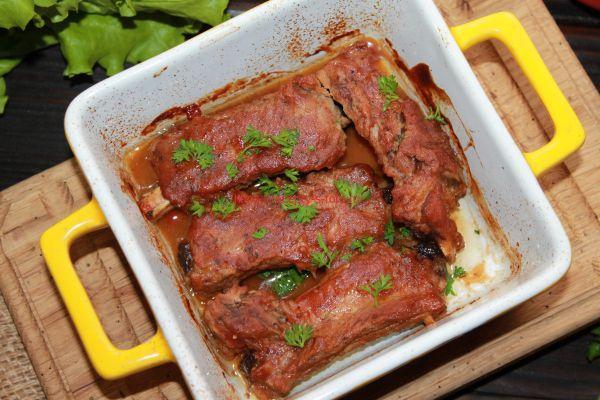 свиные ребрышки приготовленые в духовке