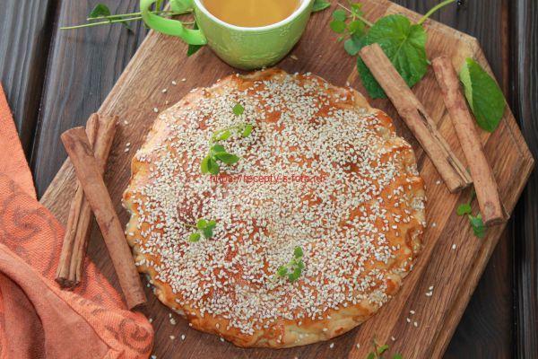 пирог хегазея с орехами