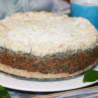 Творожно маковый пирог